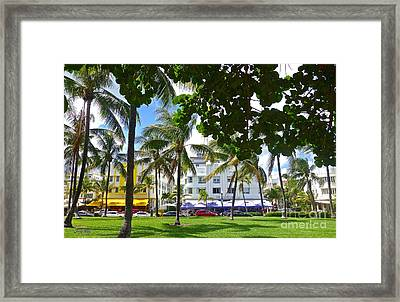 Beat Of Miami Framed Print