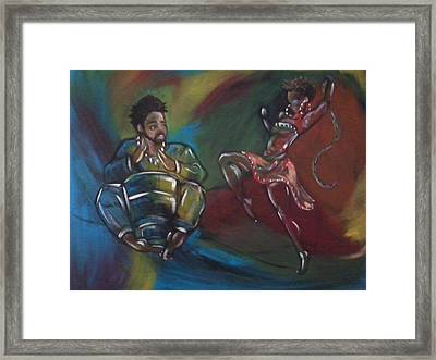 Beat To A Different Drum Framed Print by Jenny Pickens