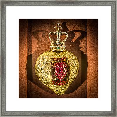 Beating Heart Brooch Salvador Dali Framed Print
