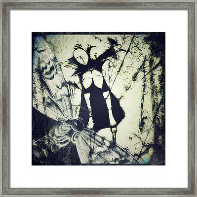 Framed Print featuring the digital art Beating Of Wings by Delight Worthyn