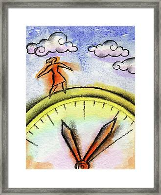 Beating The Clock Framed Print by Leon Zernitsky