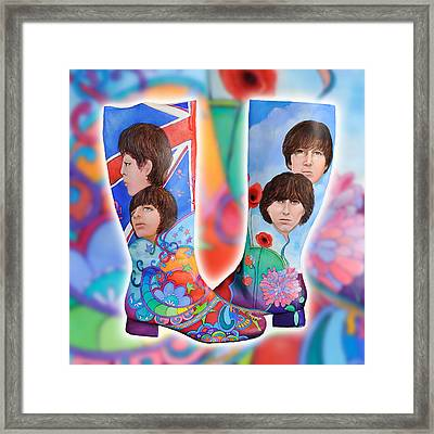 Beatle Boots Framed Print by Mary Johnson