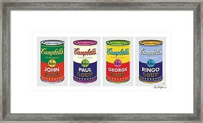 Beatle Soup Cans Framed Print