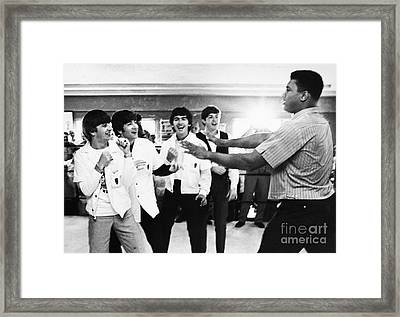 Beatles And Clay, 1964 Framed Print by Granger