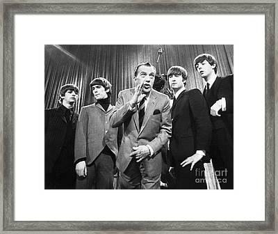 Beatles And Ed Sullivan Framed Print