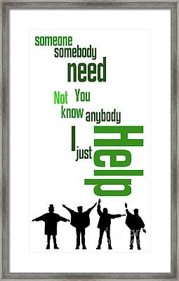 Beatles, Can You Guess The Name Of The Song? Game For Music Fans Framed Print