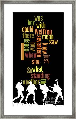 Beatles, Can You Guess The Name Of The Song? Game For Music Fans.i Saw Her Standing There Framed Print