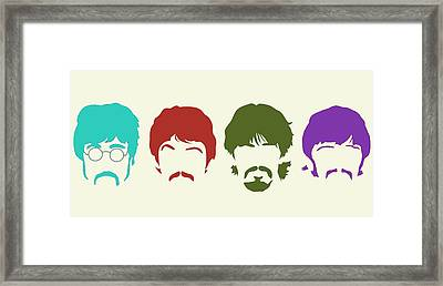 Beatles Framed Print by Elizabeth Coats