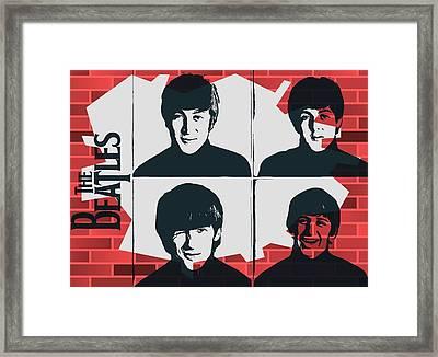 Beatles Graffiti Tribute Framed Print by Dan Sproul