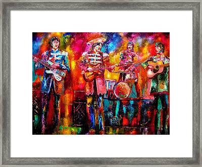 Beatles Hello Goodbye Framed Print by Leland Castro