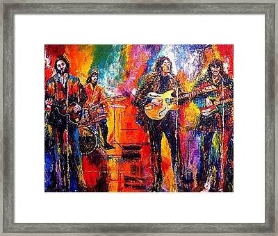 Beatles Last Concert On The Roof Framed Print by Leland Castro