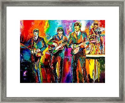 Beatles  Framed Print by Leland Castro