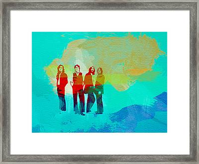 Beatles Framed Print by Naxart Studio