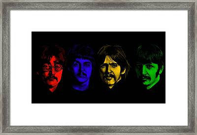 Beatles No 9 Framed Print by Brian Broadway