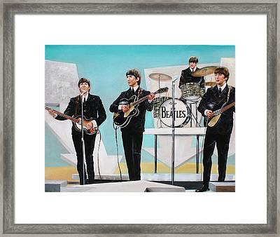 Beatles On Ed Sullivan Framed Print by Leland Castro