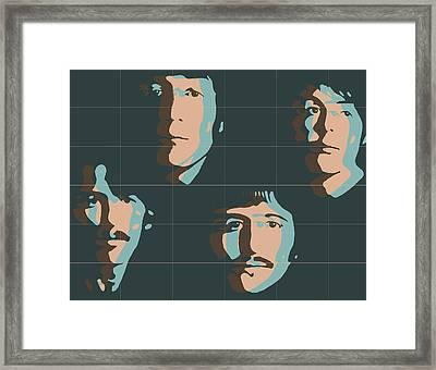 Beatles Pop Art Tiles Framed Print