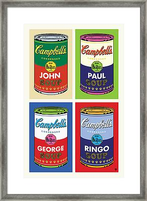 Beatles Soup Framed Print by Gary Grayson