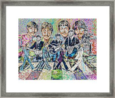 Beatles Tapestry Framed Print