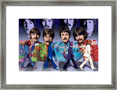 Beatles - Walk Away Framed Print