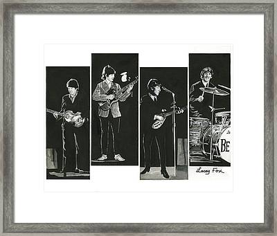 Beatles With Instruments Framed Print