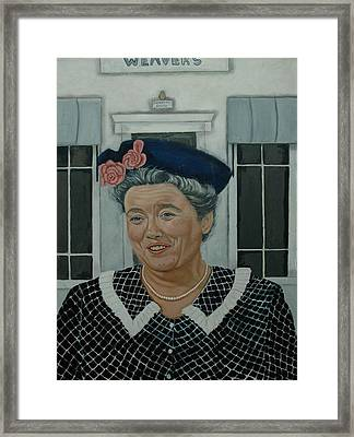 Beatrice Taylor As Aunt Bee Framed Print by Tresa Crain
