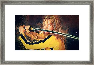Beatrix Kiddo - Kill Bill Framed Print by Taylan Apukovska