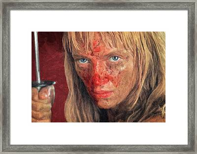Beatrix Kiddo Framed Print by Taylan Apukovska