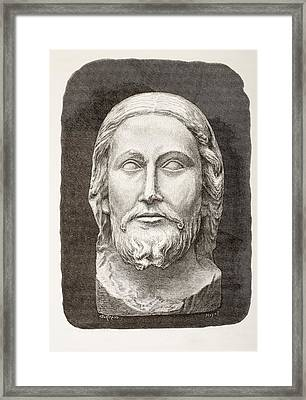 Beau-dieu D Amiens. The Beautiful God Framed Print by Vintage Design Pics