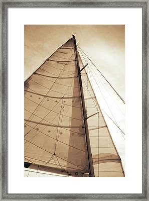 Beaufort Sails 1 Framed Print by Alan Hausenflock