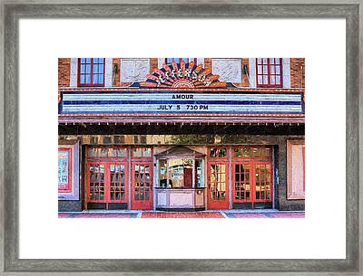 Framed Print featuring the digital art Beaumont Jefferson Theater by JC Findley