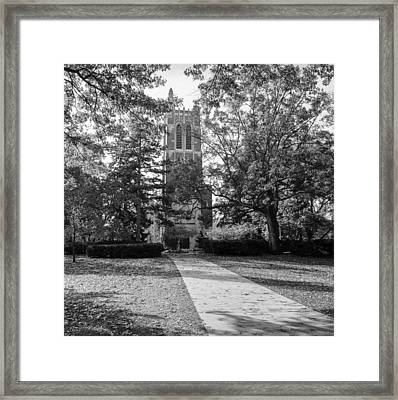 Beaumont Tower Framed Print by Larry Carr