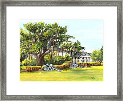 Beauregard House Framed Print by Elaine Hodges