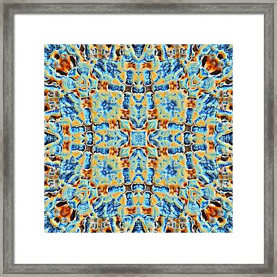Beautiful Abstract Tile Framed Print by Susan Leggett