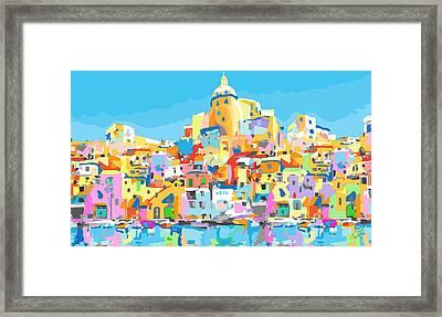 Beautiful Island Of Procido, Italy Framed Print