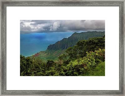 Beautiful And Illusive Kalalau Valley Framed Print