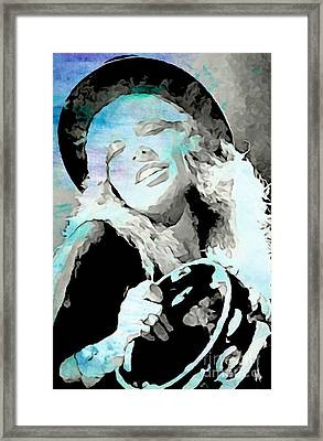 Beautiful And Soulful Stevie Framed Print by John Malone
