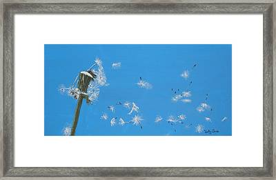 Framed Print featuring the painting Beautiful At This Moment.... by Betty-Anne McDonald