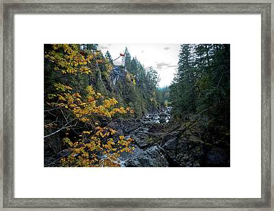 Beautiful Autumn Foliage In Potholes Valley Framed Print