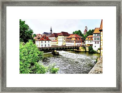 Beautiful Bamberg On The River Framed Print