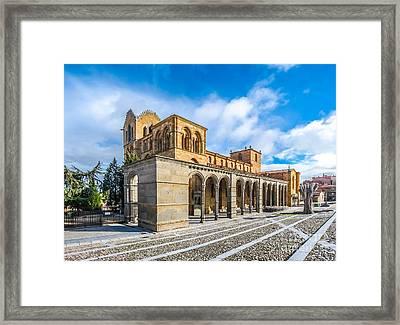 Beautiful Basilica De San Vicente, Avila, Castilla Y Leon, Spain Framed Print