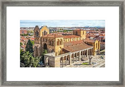 Beautiful Basilica De San Vicente In Avila Framed Print
