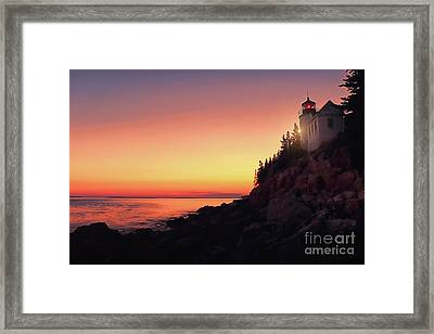 Beautiful Bass Harbor Lighthouse Framed Print