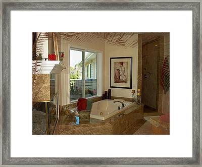 Beautiful Bath Framed Print