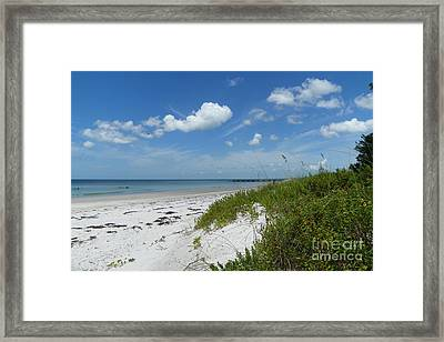 Framed Print featuring the photograph Beautiful Beach Day by Carol  Bradley