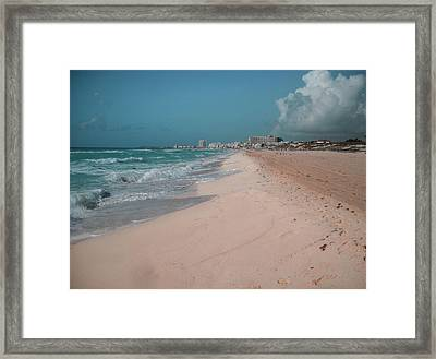 Beautiful Beach In Cancun, Mexico Framed Print