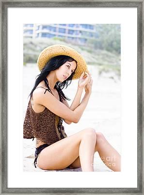 Beautiful Beach Wanderer Framed Print