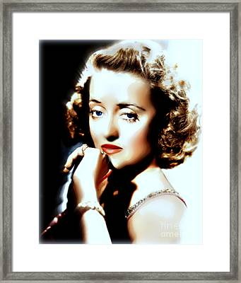 Beautiful Bette Framed Print