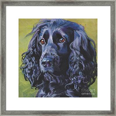 Beautiful Black English Cocker Spaniel Framed Print by Lee Ann Shepard
