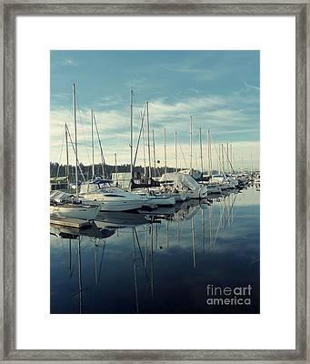 Beautiful Blue Marina Framed Print by Patricia Strand