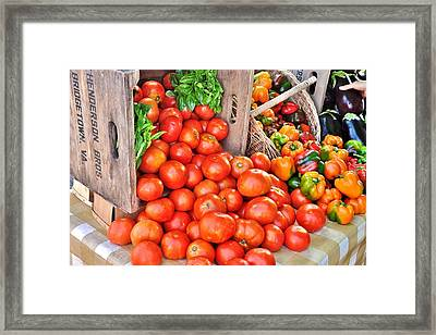 The Bountiful Harvest At The Farmer's Market Framed Print